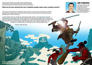 Top 5 mistakes when creating comics: Jim Cheung by EMPAYAcomics