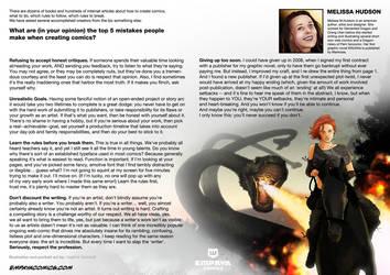 Top5 mistakes when creating comics: Melissa Hudson by EMPAYAcomics