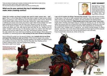 Top5mistakes when creating comics: Andy Schmidt, 1 by EMPAYAcomics