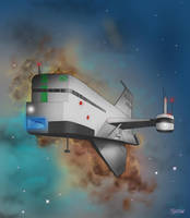 Design a space ship  by gandarewa