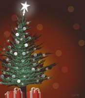 Christmas Tree Sketch by gandarewa
