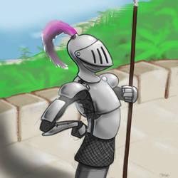 Knight In Shining Armor by gandarewa