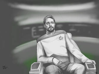 Captain Picard's Second in Command - Riker by gandarewa