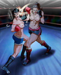 Erin vs Sam by fradarlin