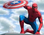Spiderman Civil War/ SpeedPaint by fradarlin