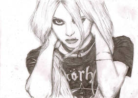 Taylor Momsen sketch by lucydoops