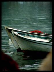 fishnets and two boats by damdakisuvari