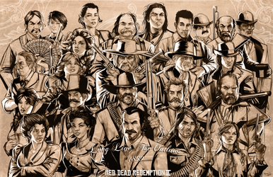 Red Dead Redemption 2 -Long Live the Outlaws! by NoahBDesign