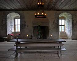 Great hall at Torpa stenhus by RavensLane