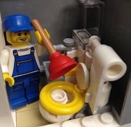 Astro Bistro Bathroom by WorldwideImage