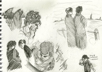Goth Kids Sketch Dump by PleadingTheFilth