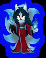 Sold: Spirit Shrine Nine Tailed Fox by Denny-Art13