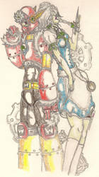Metalman and Sakuya by TheGloriesBigJ
