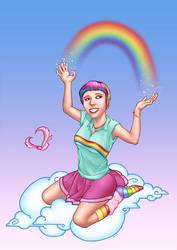 Rainbow Cheer Hallie by psychojunc