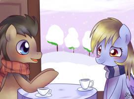 I met you on a snowy day... by Solar-Slash