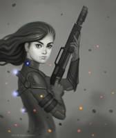 action girl by DavidHakobian