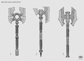 Battle Axe Concepts by DavidHakobian