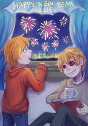 New Year 2018 by shino-no-tegami08