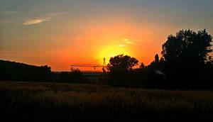 Industrial Sunset by Ellrohir