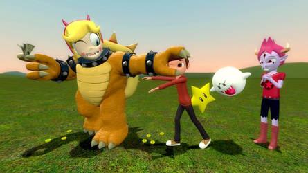 Star Vs Mario Party by migueruchan
