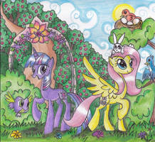 Visiting Fluttershy by Floppaw