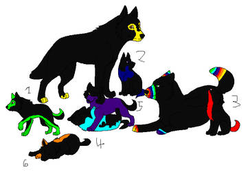 Adoptable wolf family 8/8 by animalcare224