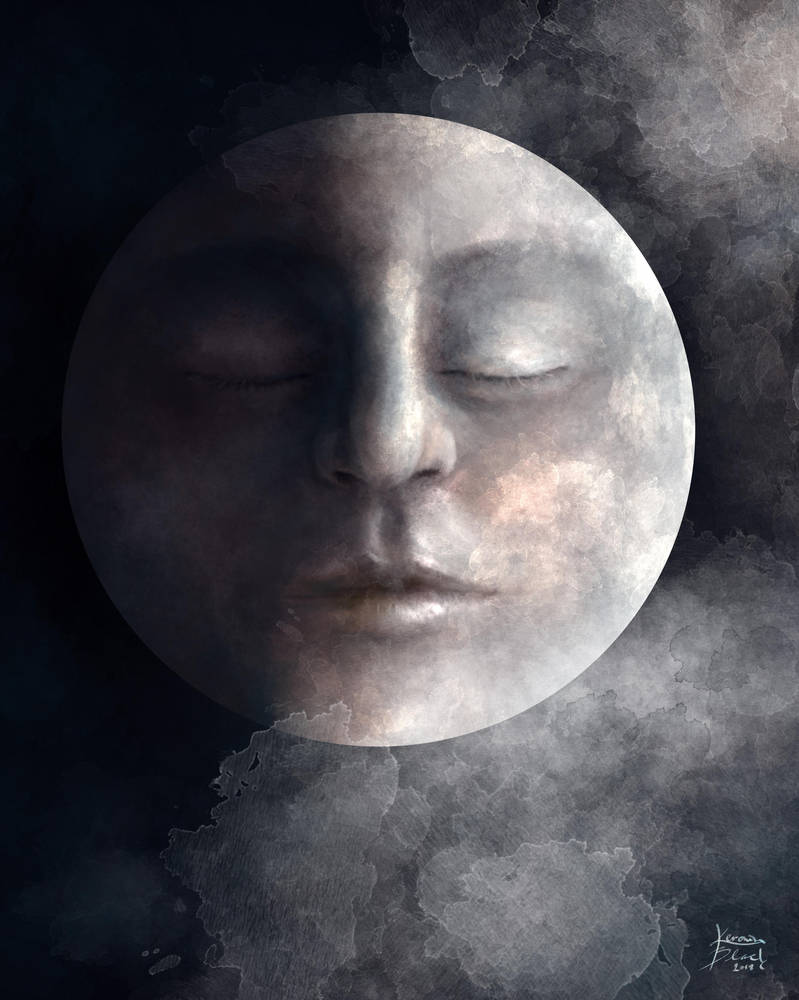 Face of the Moon by KerovinBlack