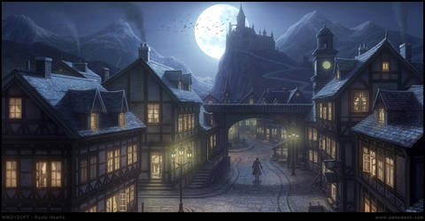 Village Night by penemenn