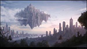 Laputa and City by penemenn