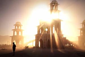 Burning Man: The Temple by NaturePunk