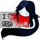-Stamp: I LOVE Red Old Version- by Frandoll-Scarlet