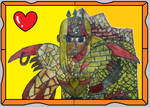 Ra the Golden Griffin Warrior Fan Stamp by KambalPinoy