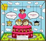 Happy Birthtine's day Laura and Tatu by KambalPinoy