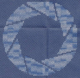 X-Stitch Aperture Science Logo by missy-tannenbaum