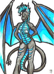 ACEO - sexy dragoness Ergien by MargotShareaza