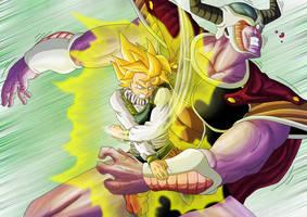 DBM Goku vs Cold by Leackim7891