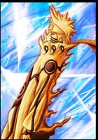 Naruto mode chakra Kyuubi by Leackim7891