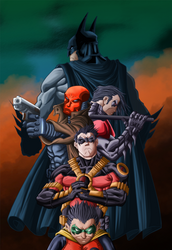 The Bat Family by Leackim7891