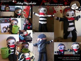 Mikey Way plushie by Denorii