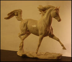 Arab Stallion by Sculptor-Robert-D