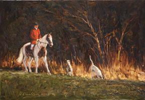 Fitzwillam hounds by Sculptor-Robert-D