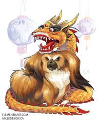 Majestic Pekingese dog by Milee-Design