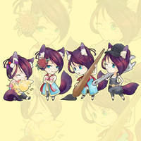 Kiku chibi collection by Milee-Design