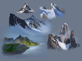 Mountain studies by sweptaway91