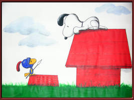 Snoopy and Woodstock by Hell-Hunter