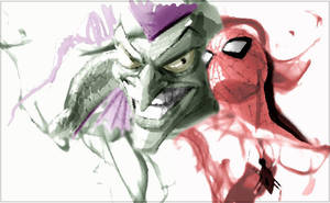 Spider-man vs Green Goblin by Numb52