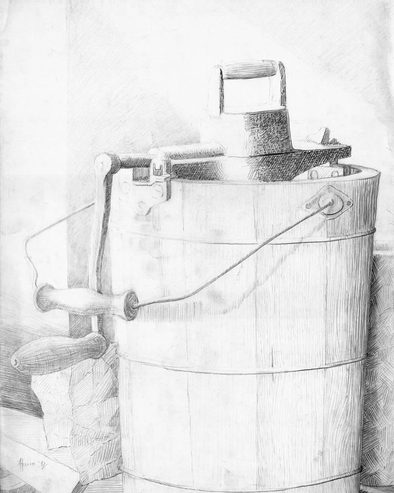 Wooden Butter Churner by Valnor