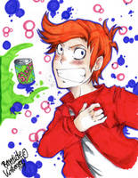 Fry :Futurama Anime style: by AsuHan