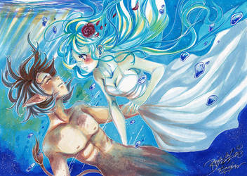 . under water with you . by AsuHan