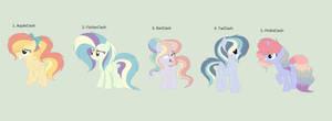 Rainbow Dash x Main five adopts (Open) by RoseLoverOfPastels